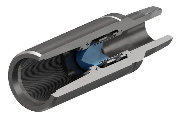 Клапан обратный шаровой с резьбой НКТ ГОСТ 633-80