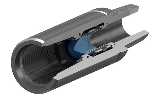 Клапан обратный шаровый с замковой резьбой ГОСТ Р 50864-96