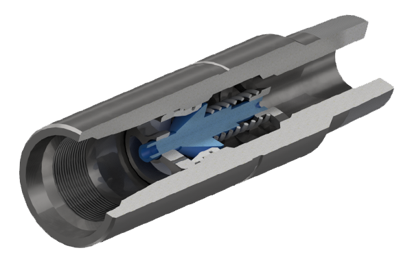 Клапан обратный тарельчатый с резьбой НКТ ГОСТ 633-80